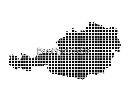 square mosaic austria map contour design