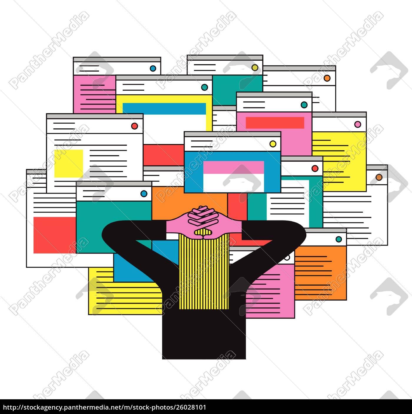 person, überwältigt, von, vielen, e-mails - 26028101