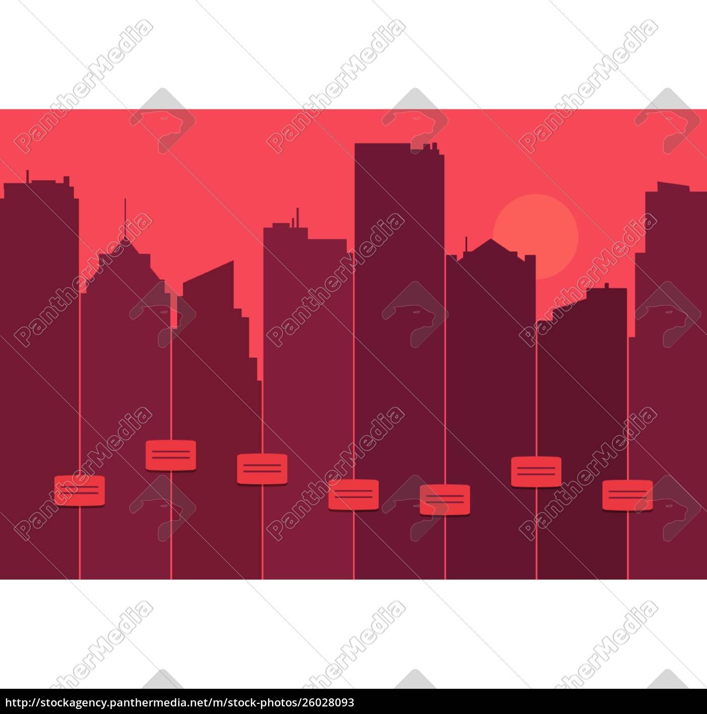 silhouette, einer, stadt-skyline - 26028093