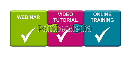 3 puzzle buttons mit webinar video
