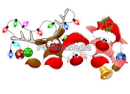 weihnachtsmann hirsch und ferkel 1