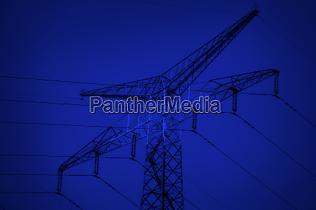 metallturm von power lines