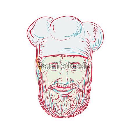 hipster baker cook chef
