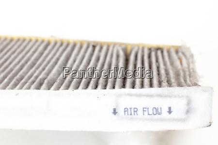 wechsel einer autokabine pollenfilter detail