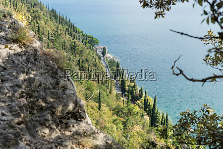 shore road on lake garda in