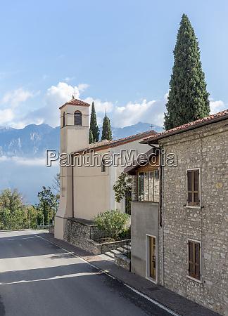 lombard church in tignale in italy