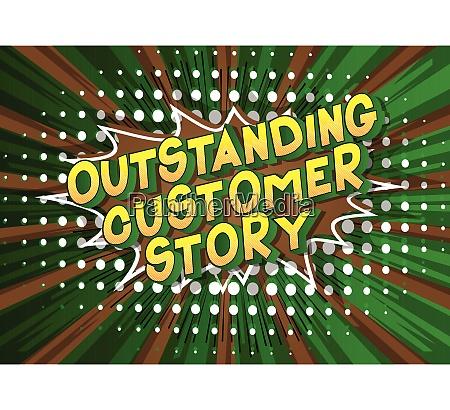 outstanding customer story comic book