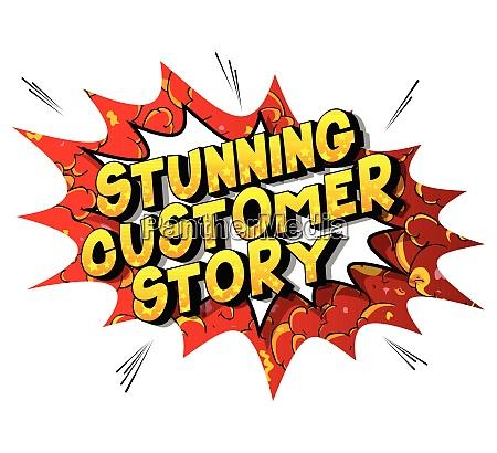 stunning customer story comic book