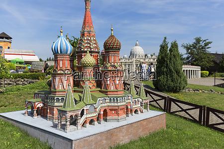 nachbau der basilius kathedrale moskau russland