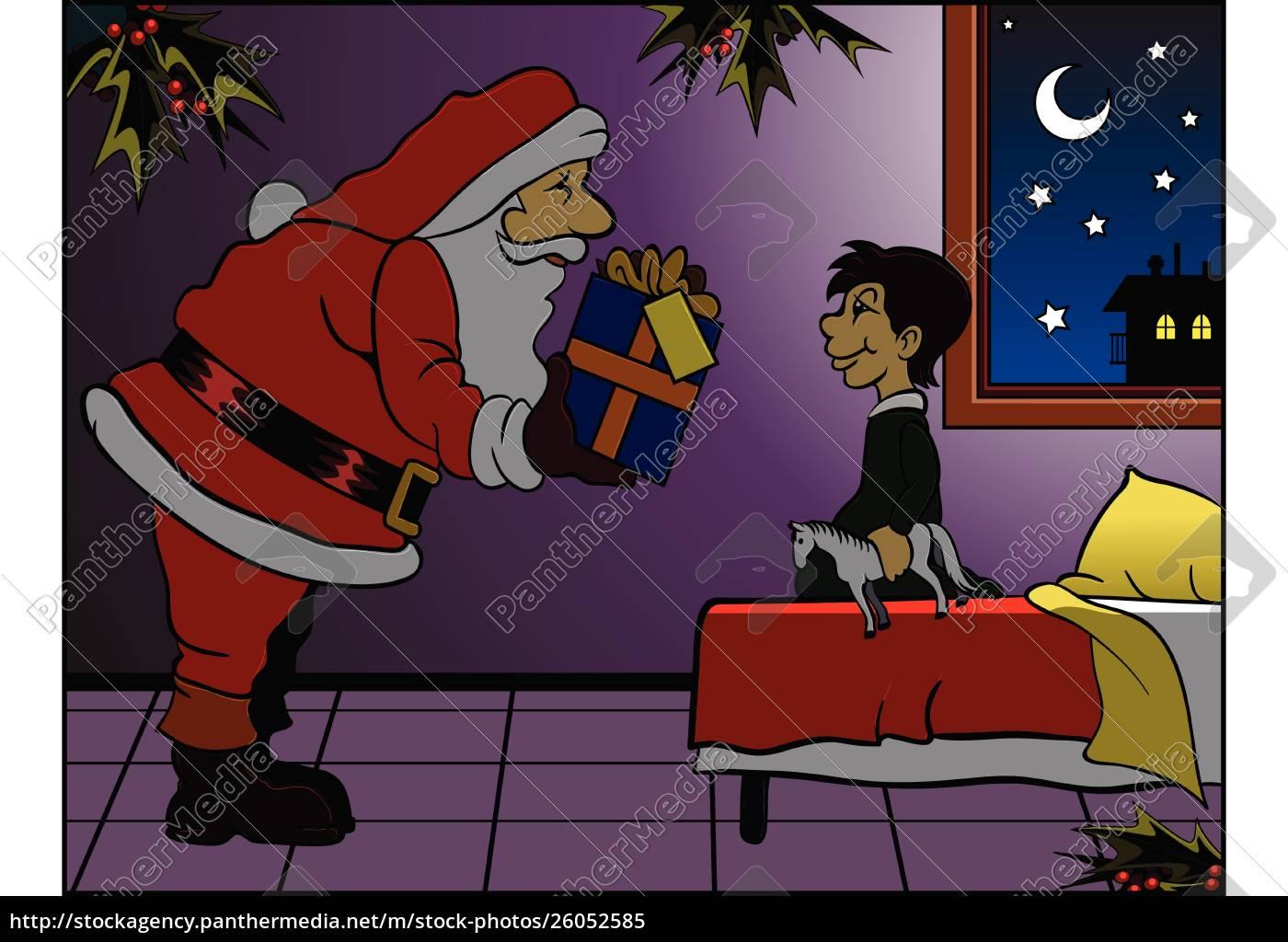 santa, brings, gift - 26052585