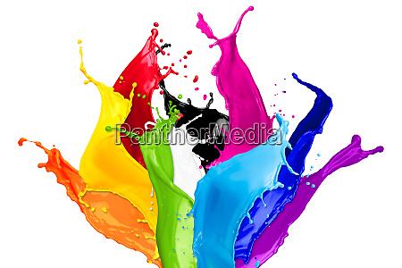 abstrakte farbspritzer