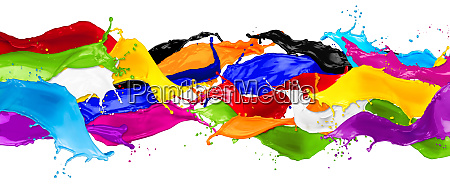 breite abstrakte farbspritzer
