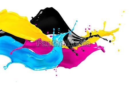 abstrakte cmyk farbspritzer