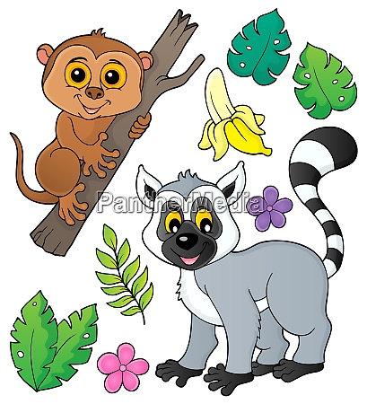 tarsier and lemur theme set 1