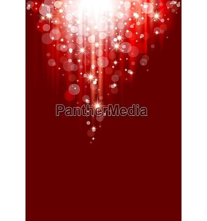 red christmas bokeh light background