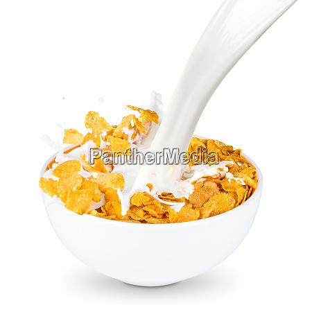 cornflakes milchspritzer