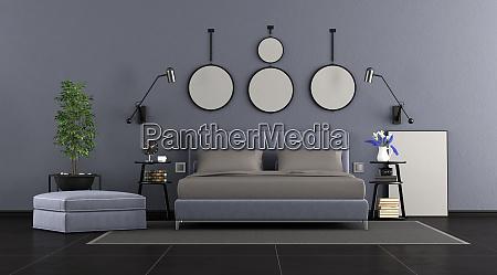 lila und grau hauptschlafzimmer