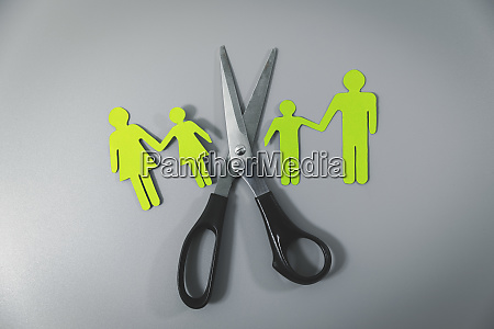 broken family child custody concept