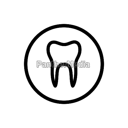 isolated tooth line icon on a