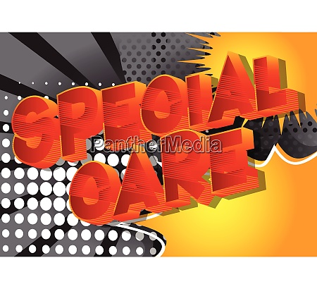 special care comic book style