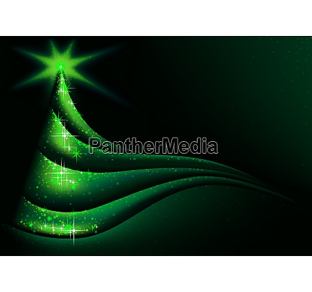 green abstract christmas tree background
