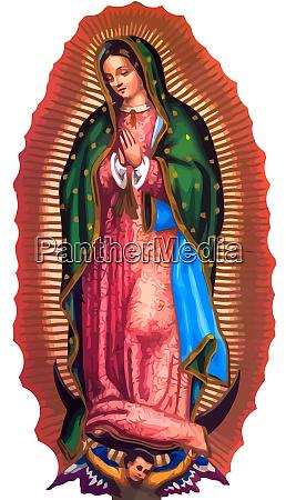 dame von guadalupe mexico heiligen heiligen