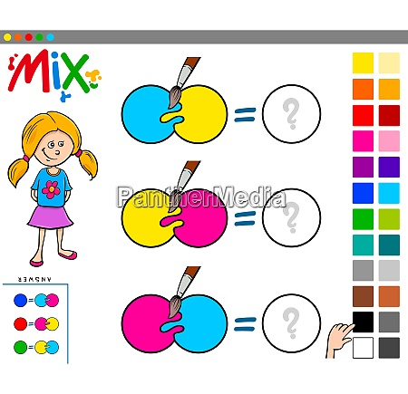 mix colors educational game for children
