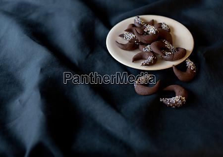 schokoladenkekse weihnachten winter tisch