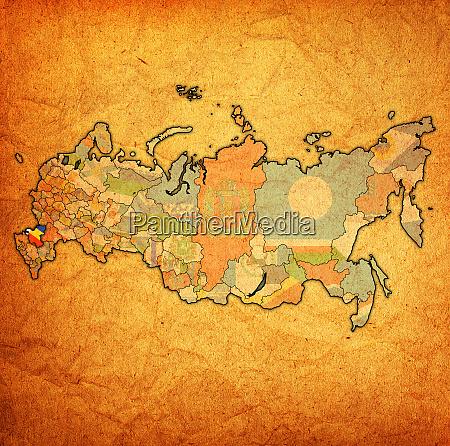rostov oblast auf der verwaltungskarte von