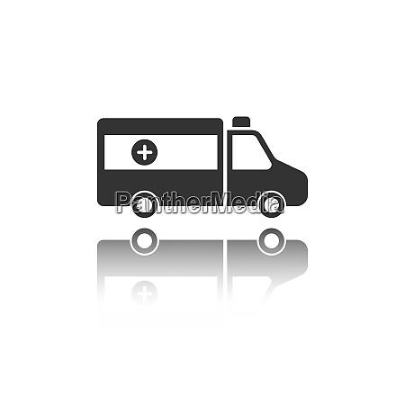 isolated ambulance icon on a white