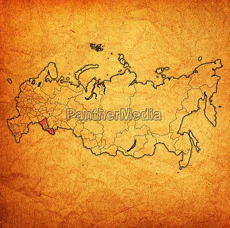 orenburg obendrein auf verwaltungskarte von russland