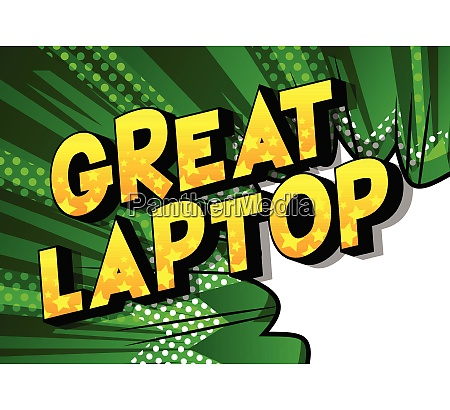great laptop comic book style