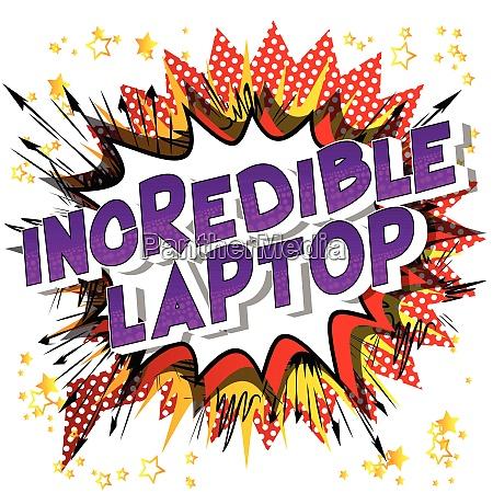 incredible laptop comic book style