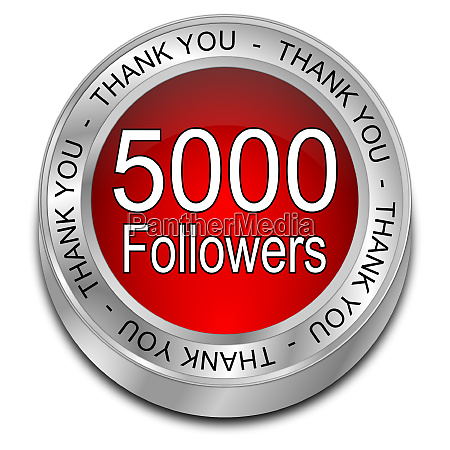 red 5000 followers thank you