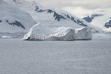 large iceberg near the coastline of