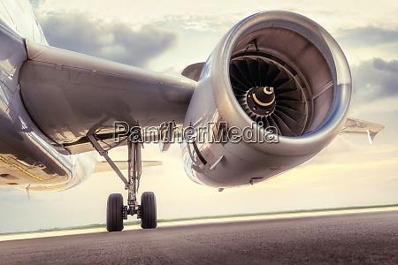 turbine of an modern aircraft