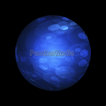 abstract blue sphere isolated on black