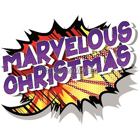 wunderbare weihnachten comic buch stil