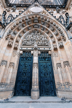 interior of vitus cathedral czech republic