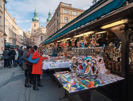 souvenirladen am havel markt in der