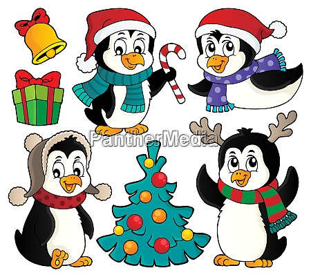 christmas penguins thematic set 2