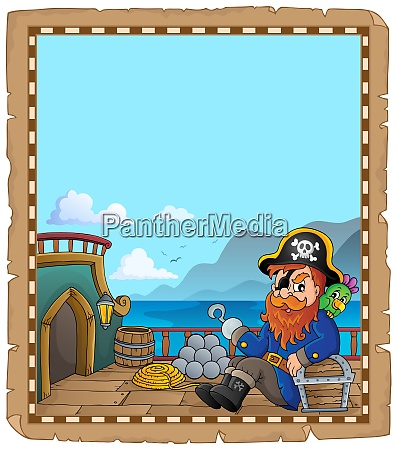 pirate ship deck topic parchment 5