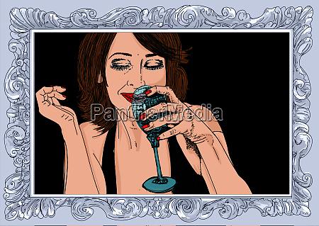 , frau, erotik, raffinierte, und, sinnliche, linie - 26094644