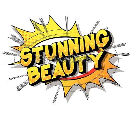 stunning beauty vector illustrated comic