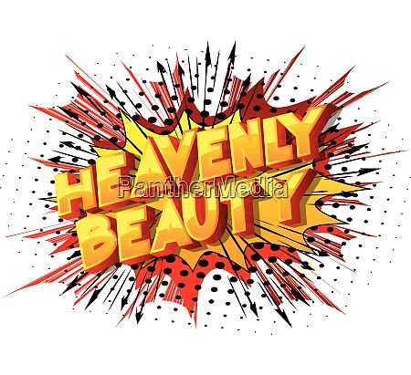 heavenly beauty vector illustrated comic