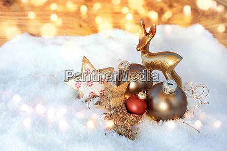 weihnachtsdekoration im winter
