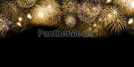 silvesterfeuerwerk goldene goldene goldene hintergrund copyspace