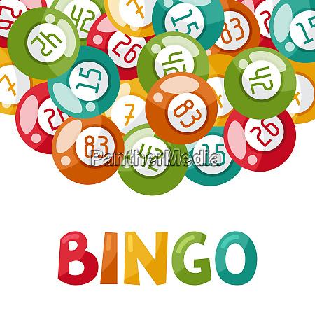 glueck freizeitaktivitaet bingo karte gluecksspiel nummern