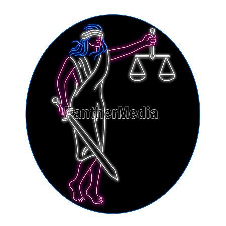 lady justice holding schwert und balance