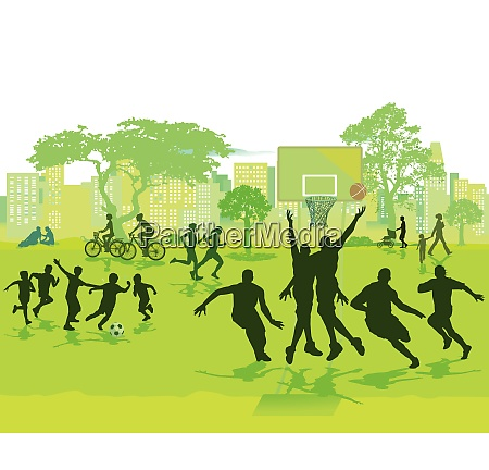 sport and play in the summer